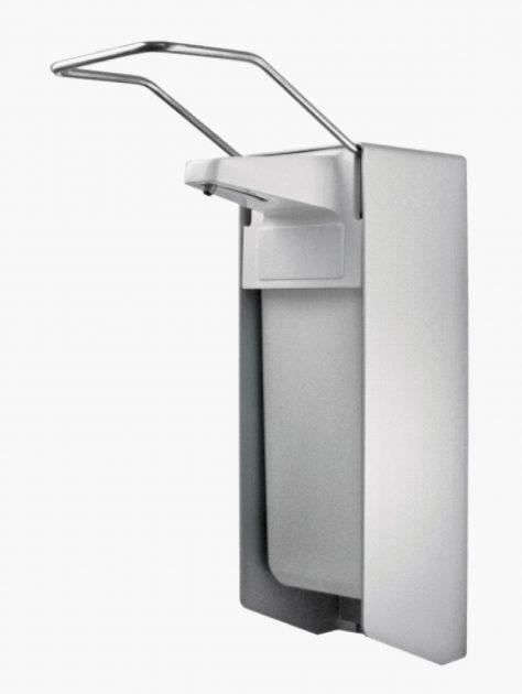 TEMDEX Desinfektionsmittel- & Seifen-Spender Aluminium, 500 ml, langer Armhebel, Edelstahlpumpe