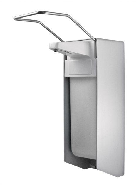 TEMDEX Desinfektionsmittel- & Seifen-Spender Aluminium, 1.000 ml, langer Armhebel, Edelstahlpumpe