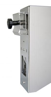 TEMDEX Rohrrahmenhalter mit Rückwand für 1.000 ml Desinfektionsmittel- und Seifenspender